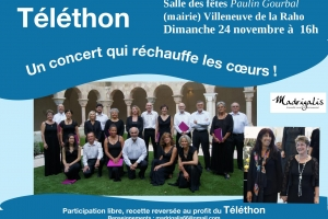 Concert Ensemble Vocal Madrigalis Villeneuve de la Raho